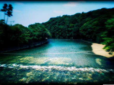 holy river  ise jingu ultra hd desktop background