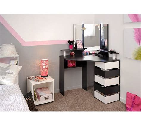 Coiffeuse Sans Miroir Coiffeuse Avec Led Joly Noir Et Blanc Wishlist Home Mobilier De Salon Meuble Et Rangement