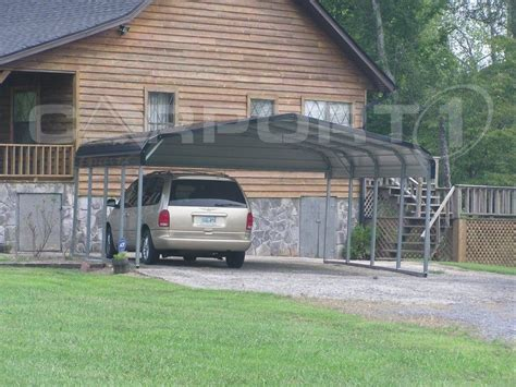 Inexpensive Carport by An Inexpensive Metal Carport For Two Cars Are Within