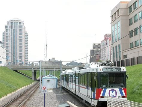 st louis light rail in the cut
