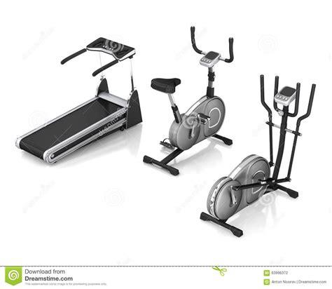tapis roulant v 233 lo d exercice simulateur de ski illustration stock image 63996372