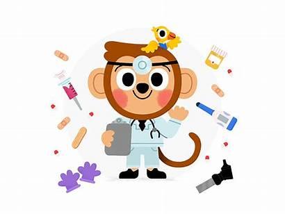 Monkey Dr Dribbble Drawing Illustration Carlo