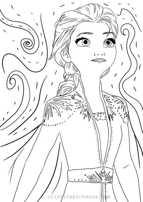 coloring pages  elsa  white dress frozen  cristina  painting