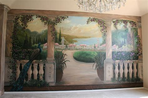 "Trompe L'oeil Landscape From Artistic Mural Works ""san"