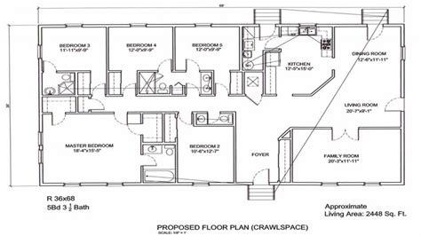 ranch floorplans 5 bedroom ranch floor plans 5 bedroom ranch floor plans 5