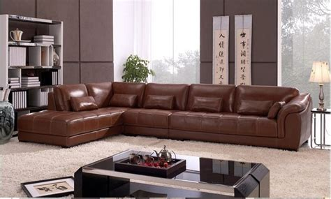 Copridivano Angolare Aliexpress : Free Shipping Living Room Sectional Leather Corner Sofa