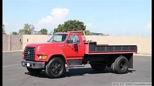 1997 Ford F700 12 U0026 39  Flatbed Dump Truck For Sale