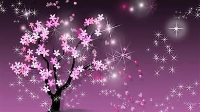 Sakura Bunga Desktop Sparkle Gambar Spring Wallpapers