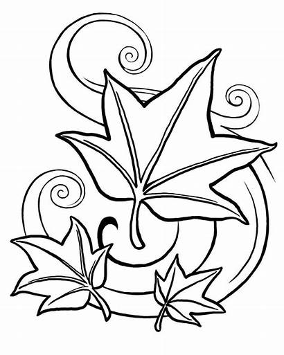 Coloring Fall Pages Autumn Adults Printable Leaves