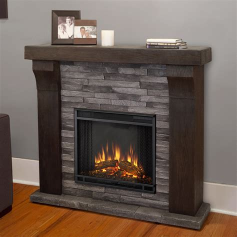 real flame avondale indoor electric fireplace gray