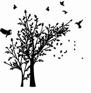 Pusteblume Schwarz Weiß Vögel : wandtattoos deko baum mit v geln wandaufkleber von ~ Orissabook.com Haus und Dekorationen