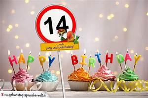 14 Geburtstag Feiern Ideen : 14 geburtstag geburtstagsw nsche mit schild und alter auf karte geburtstagsspr che welt ~ Frokenaadalensverden.com Haus und Dekorationen