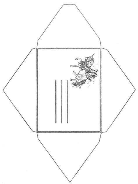 enveloppe licorne papier  lettres