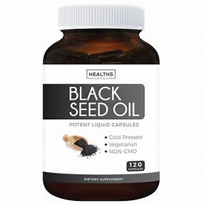 Healths Harmony Black Seed Oil 1000 Mg  120 Ct Softgel Capsules  Non