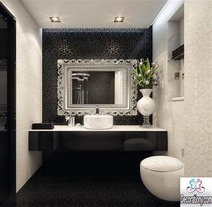 55 modern bathroom design trends 2017 bathroom for Black and white bathrooms images