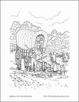 Coloring Wagon Pioneer Printable Lds Covered Activities Plain Sarah Pioneers Tall Printables Sheets Primary Template Days Activity Nations Crafts Trek sketch template