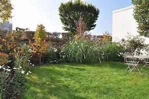 Petit Jardin Moderne : am nagement du petit jardin de ville avec haie paysag e et espace engazonn ~ Dode.kayakingforconservation.com Idées de Décoration