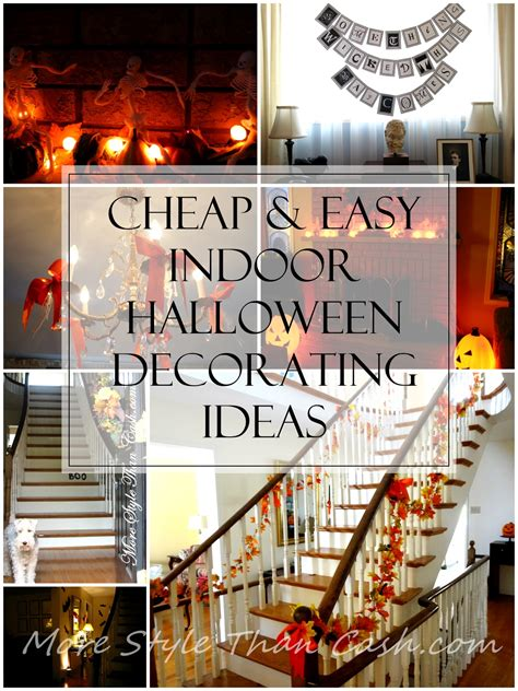 cheap  easy indoor halloween decorating ideas