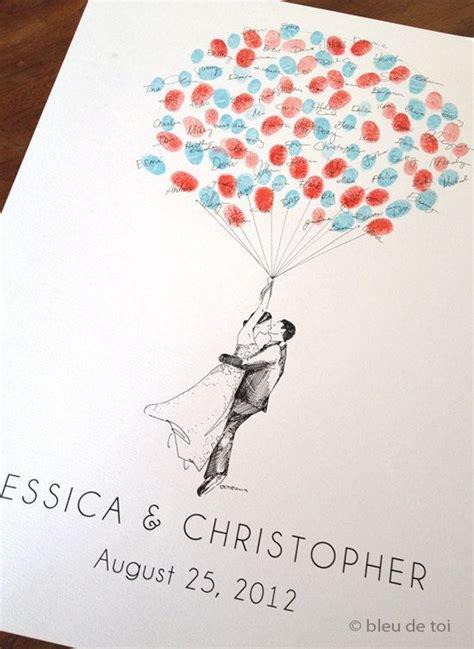 thumbprint balloon wedding guest book alternative tandem