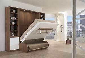 Lit Escamotable Armoire : meuble lit canape escamotable ~ Premium-room.com Idées de Décoration