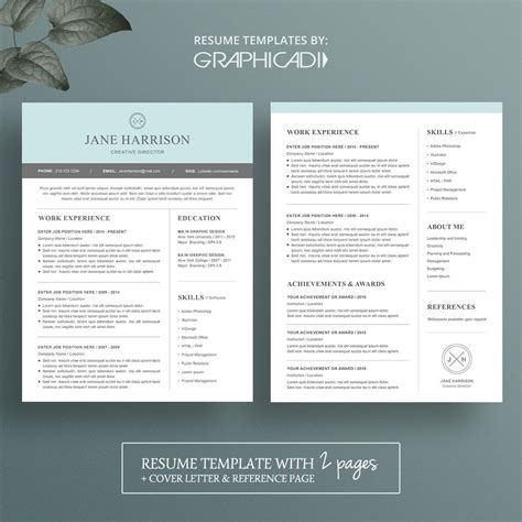 Orange accents enhance the content hierarchy so that recruiters could easily scan your resume. 2 Page Cv Template Free   Modern resume template, Resume ...