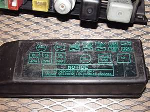 1988 Toyota Pickup Fuse Box Diagram
