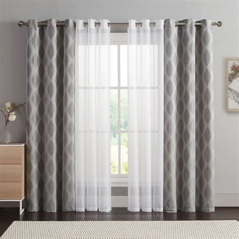 vcny  pack jasper double layer window curtain set ideas   house   curtains