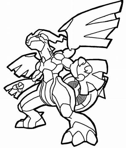 Pokemon Coloring Pages Zekrom Cool Froakie Lineart