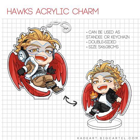 bnha hawks acrylic charm kadeart