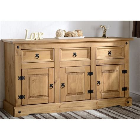 3 Door Sideboard by Corona 3 Door 3 Drawer Sideboard Brixton Beds