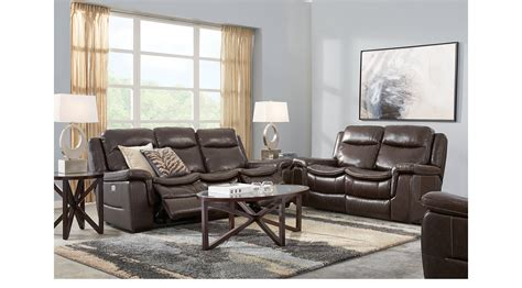 219999 Milano Brown 3 Pc Leather Living Room