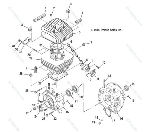 Polari Trailblazer 250 Part Diagram by Polaris Atv 2003 Oem Parts Diagram For Crankcase
