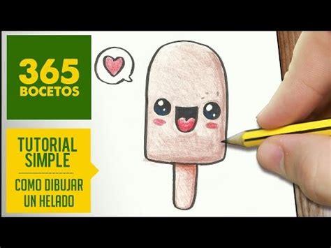 como dibujar paletas heladas kawaii paso  paso dibujos
