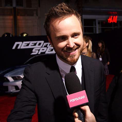 aaron paul interview breaking bad aaron paul need for speed interview video popsugar