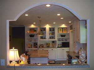 unique wall cut out to open kitchen into dinning room With kitchen wall cut out designs