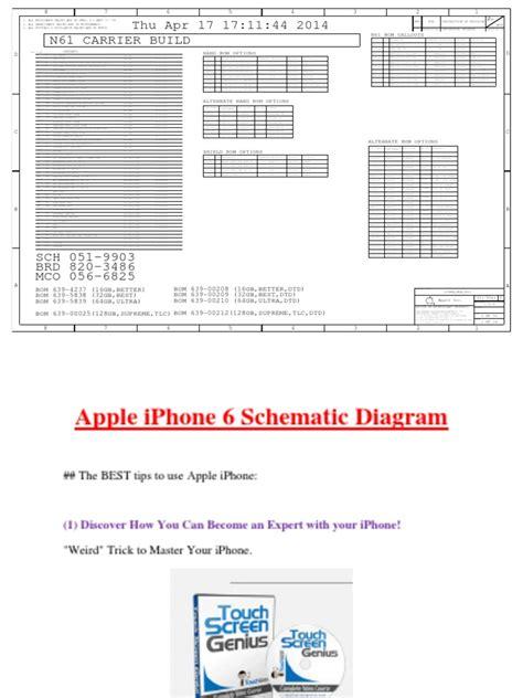 apple iphone  schematic diagram