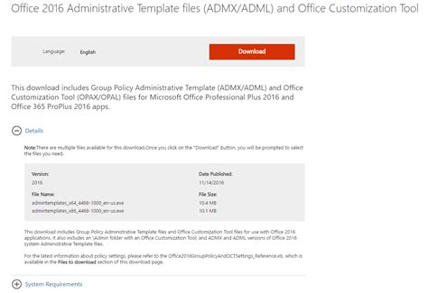 install microsoft office  administrative templates