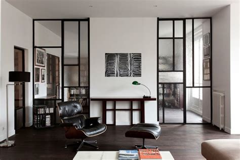 Bauhaus Style Home With Interior Glass Walls by Mad About Windows