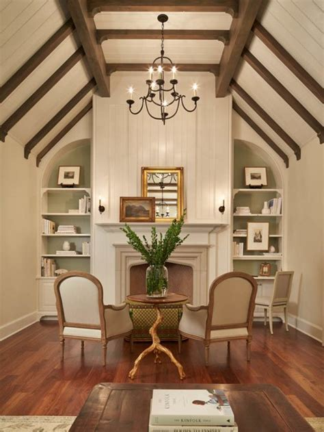 Houzz Living Room Ceiling Designs by Vaulted Ceiling Beams Home Design Ideas Pictures Remodel