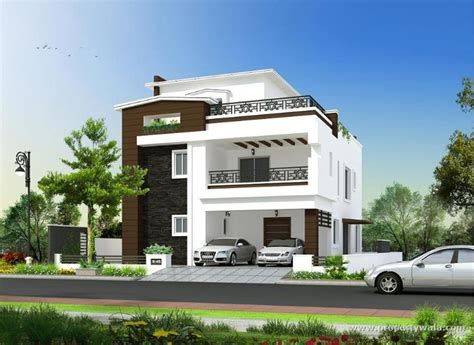 The Gallery For > House Front Compound Wall Design