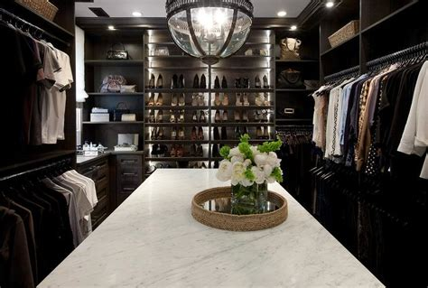 dark stained custom shoe shelves transitional closet