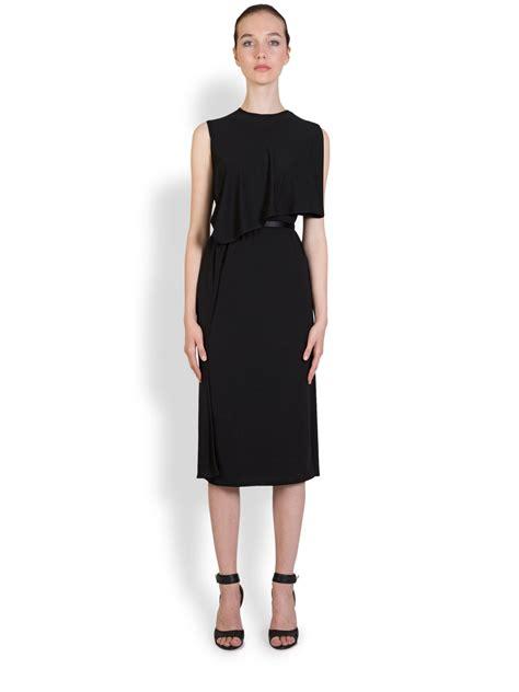 lyst givenchy capelet jersey dress  black