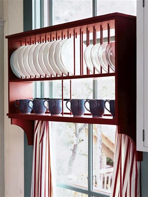 storage plate organize kitchen rack dish window dishes creative thekitchn via