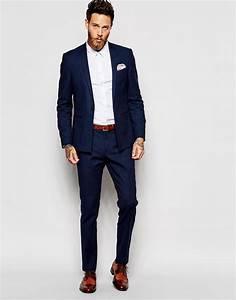Image 4 asos pantalon de costume skinny bleu marine for Charming quelle couleur avec le bleu 0 quelle couleur de costume pour homme choisir