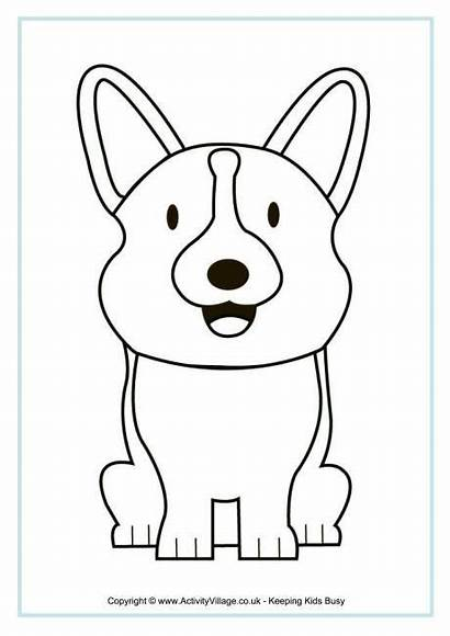 Corgi Coloring Colouring Pages Royal Dog Clipart