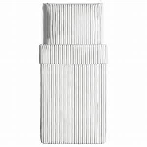 Ikea Bettwäsche Weiß : ikea bettw sche garnitur h st ga grau wei gestreift drei gr en ~ Markanthonyermac.com Haus und Dekorationen