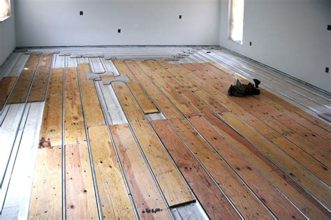 radiant floors hardwood this is the state of the method of installing hydronic