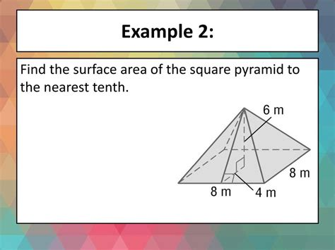 Warmup P22 Find The Lateral Area And Surface Area Of Each Prism Ppt Download