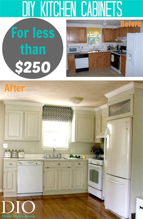 diy kitchen cabinets makeover diy kitchen cabinets less than 250 dio home improvements 6834