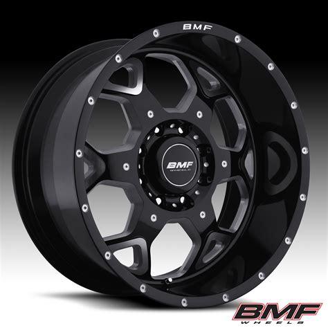 Bmg Wheels by Bmf Wheels S O T A Metal Gloss Black Machined Set
